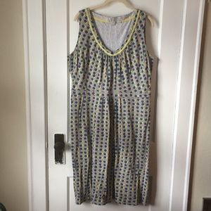 Boden Sleeveless Knit Print Dress, US 14L